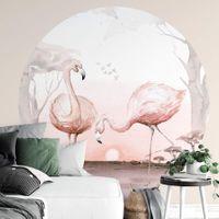Flamingos at Sunset -  5557